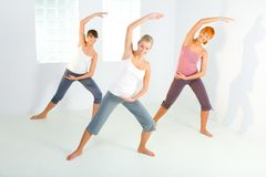 Group of exercising women Stock Photography