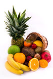 Group of exotic fruits on a white background Stock Image