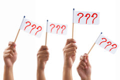 Group expressing uncertainty Royalty Free Stock Images
