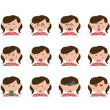 Group of expression. Stock Image