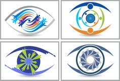 Group eye care logos Royalty Free Stock Photo