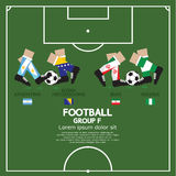Group F Of 2014 Football (Soccer) Tournament. Group F Of 2014 Football (Soccer) Tournament Vector Illustration Royalty Free Stock Image