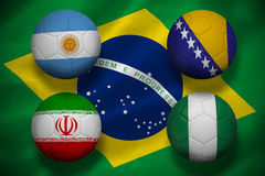 Group f footballs for world cup Stock Images