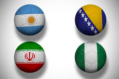 Group f footballs for world cup Stock Photos