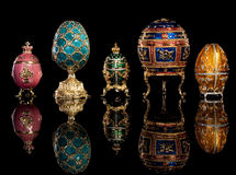 Group Faberge Eggs. Royalty Free Stock Photography