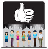 A group of faceless people with an approved sign Royalty Free Stock Photos