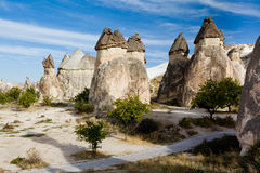 Group of fairy chimneys Pasabagi Stock Images