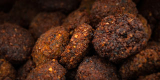 Group of falafel close up deep fried cooked Stock Photography