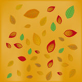 Group of falling leafs Stock Photo