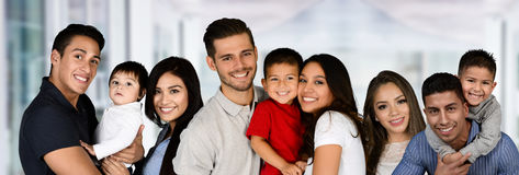 Group Of Families Royalty Free Stock Photo