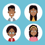 Group family afro american. Illustration eps 10 Stock Photography