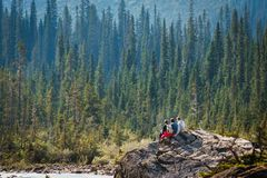 Takkakaw Falls, CANADA, Yoho National Park, British Columbia, Canada stock images