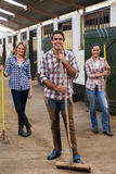 Group farm workers Stock Photos