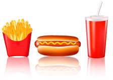 Group of fast food products. Stock Image