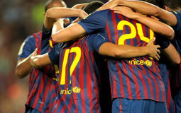 Group of FC Barcelona Stock Images