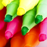 Group of felt tip bright color markers Stock Photo