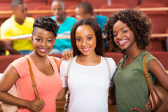 Group female african students Stock Photography