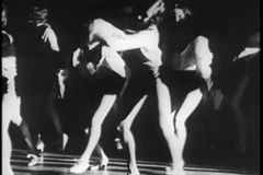 Group of female dancers tap dancing stock footage