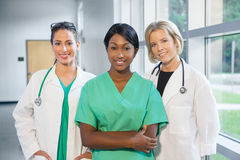 Group of female doctors and nurses Stock Image
