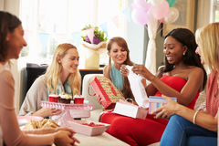 Group Of Female Friends Meeting For Baby Shower At Home Royalty Free Stock Photos