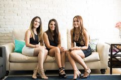 Women ready for a night out Royalty Free Stock Image
