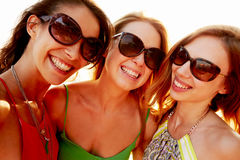 Group Of Female Friends On Summer Holiday Together Royalty Free Stock Photo