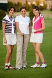 Group of female golf players Stock Photography