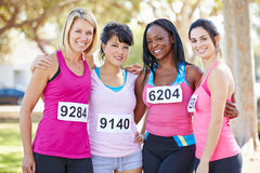 Group Of Female Runners Before Race Stock Photography