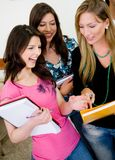Group of female students Royalty Free Stock Image