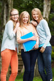 Group Of Female Teenage Students Outdoors Royalty Free Stock Photo