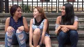 Group Of Teens Hanging Out Stock Images