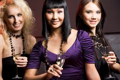 Group of females Stock Photography