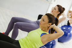 Group Of Females Doing Pilates Royalty Free Stock Photography