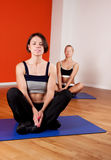 Group of females doing yoga exercise Royalty Free Stock Photo