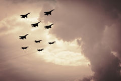 Group of fighter aircraft Royalty Free Stock Photography