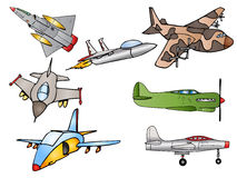 Group of fighter Jet plane illustration. Illustration of a group bomber fighter Jet plane and airbus flying away to destination Stock Image