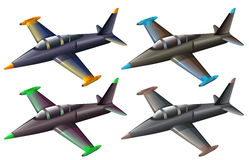 A group of fighter jets. Illustration of a group of fighter jets on a white background Stock Photo