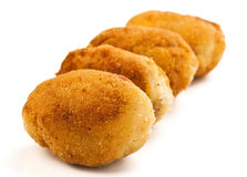 Gold croquettes Stock Image