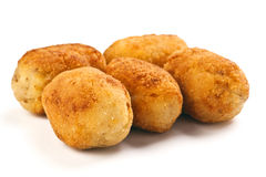 Gold croquettes Royalty Free Stock Image