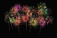 Group of Fireworks Stock Images