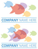 Group Fish Logo Stock Image