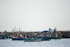 A group of fishing boat Royalty Free Stock Image