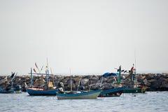 A group of fishing boat. At HuaHin, Thailand Royalty Free Stock Image
