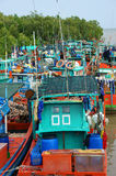 Group fishing boat, Vietnam port Stock Image