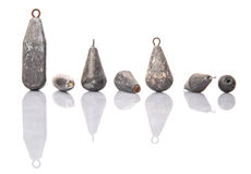 Group Of Fishing Sinker Or Knoch VIII Stock Image