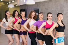 Group of fitness class Stock Images