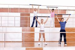 Group fitness classes Stock Photography