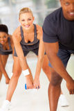 Group fitness exercise Stock Images
