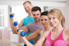 Group of fitness instructors. Portrait of group of smiling fitness instructors Royalty Free Stock Photography