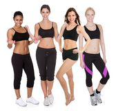 Group of fitness women Stock Image